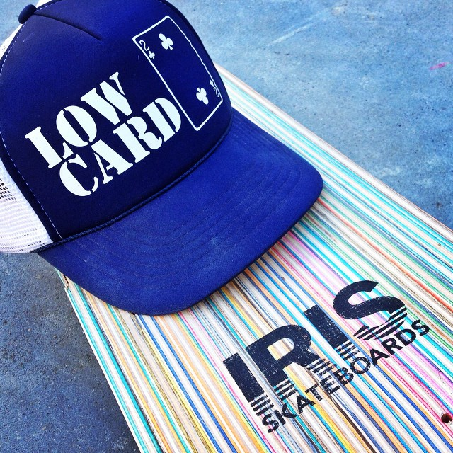 Thank you @lowcardmag for all your support! I was gonna burn a shirt or a hat but Id rather wear it! #recycledskateboards #irisskateboards #lowcardmag