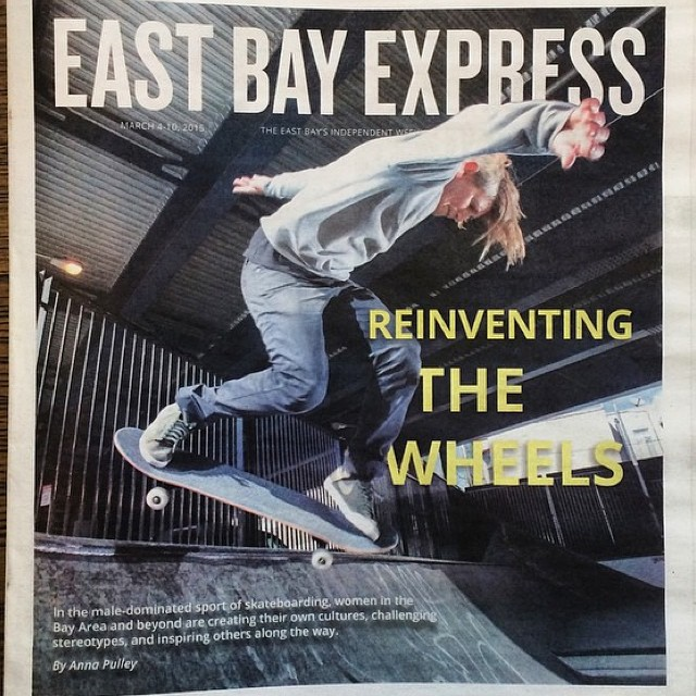 We are #grateful to be mentioned in this in-depth article on women's #skateboarding in the East Bay Express. Check it by clicking the link in our bio! Thank you Anna Pulley for writing such a thoughtful piece! #skatergirl #girlswhoshred...