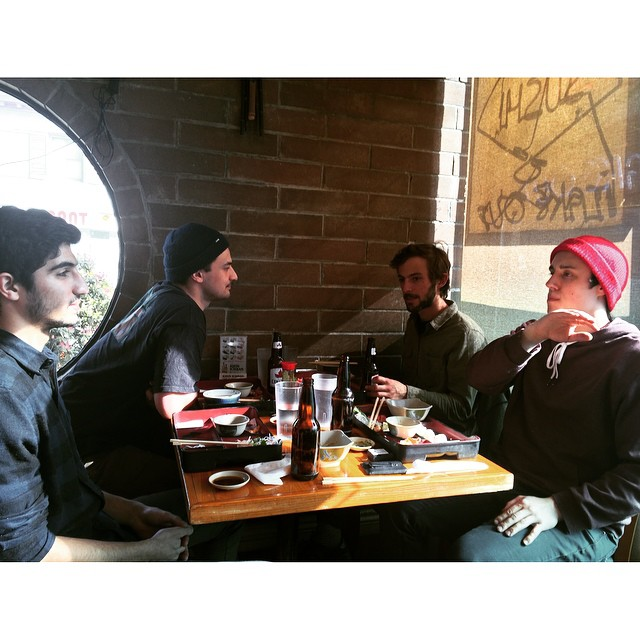 Sushi, sunshine, switchbacks. #allinadayswork #predatorteam #vancouver #sushiyama #dudeschillin