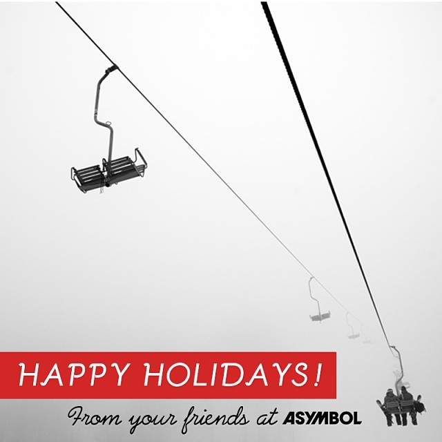 Happy holidays to you and yours! #nowletsshred ❄️ http://asymbol.com