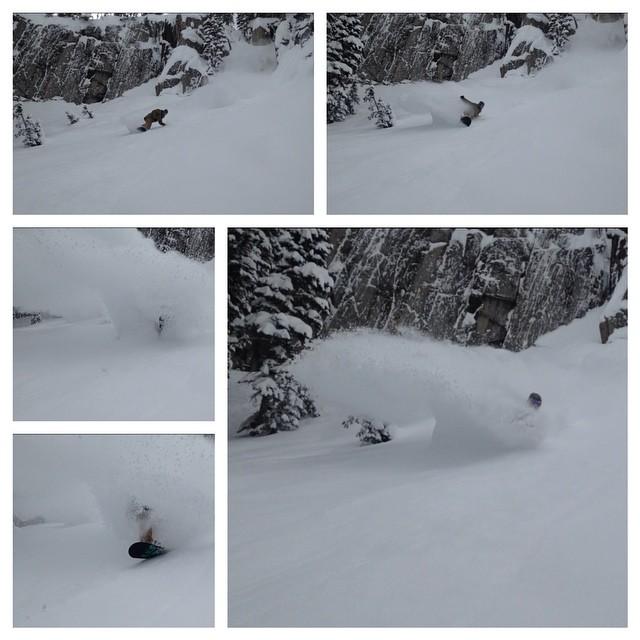 Torrey Lyons (@torreylyons) having absolutely zero fun the other day up at @brightonresort...Utah finally got some snow....