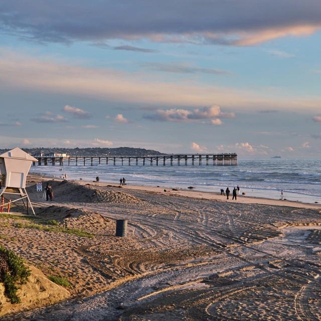 || Good Morning San Diego || #hovenvision #beach #surf #pier #winter #california #sup #tbt