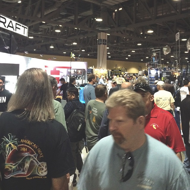 Somebody get crowd control at the Hoven booth - 1033/34 #hovenvision #neversettle #sunglasses #fredhallshow #longbeach