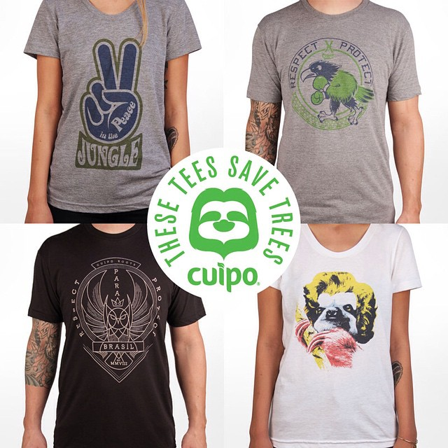 Hey, have you checked out our latest tee-shirt launch yet? 8 brand new designs that help #SaveRainforest. #Cuipo #WildAndFree