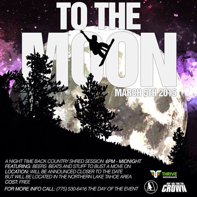 #fullmoonparty #snowboarding #tahoe @abstraktforest @thrivesnowboards