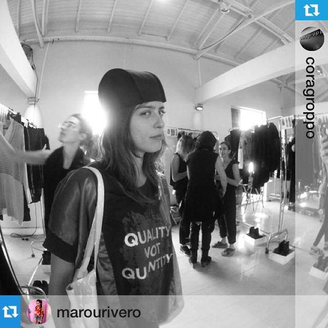 #Repost @marourivero with @repostapp.・・・Desfile de @coragroppo / @marourivero con bolso Tote @mambobackpacks