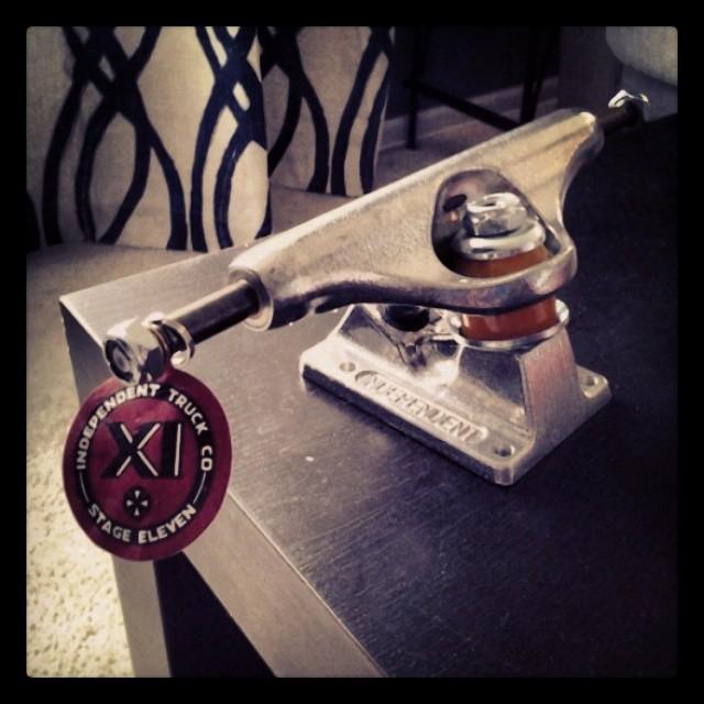 The key to my heart, new Indys. Thx @monprimm @independenttrucks #builttogrind
