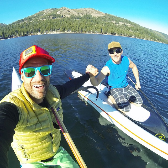 #KaKaaaaaa!!! Fresh air & #SmilesForMiles - out grooming the flat water with @shawnakorgan, @AdamFreeman & @_trashtalk yesterday | #HighFivesAthlete | @tahoewaterman | @bigtruckbrand | @gopro | #ChoosePositivityNow.com