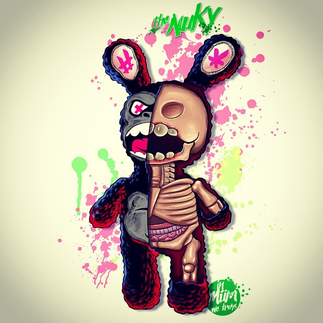 #nuky #illustration #anatomy #miumtoys