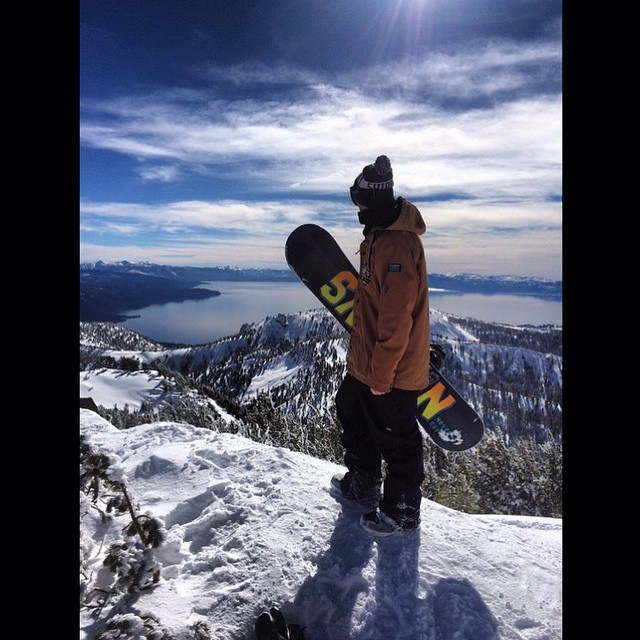 We live in one of the most beautiful places I know of, here is proof. When it's good in#tahoe it's hard to beat. @_swells_  Gettin on it. #forridersbyriders #weareok #goodwood2015 #Hooligan #DTX #3yearwarranty