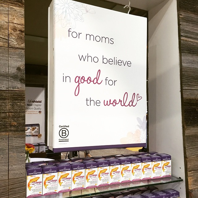 Loving this message from our friends @NewChapter here at #ExpoWest ... As a mother, what do you believe in this week? #BtheChange