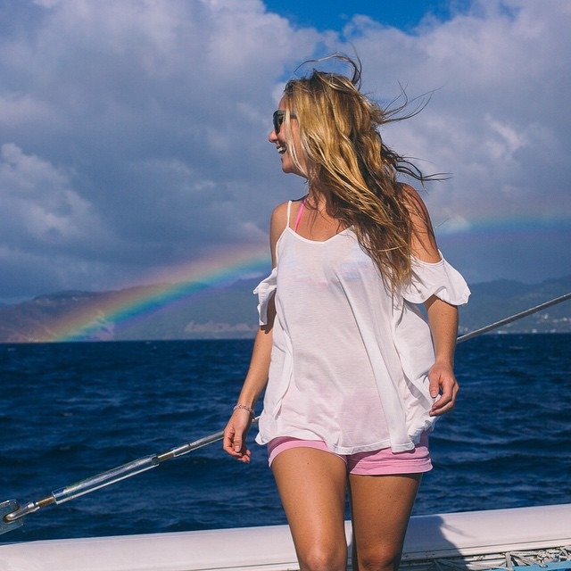 Somewhere over the rainbow lies the emerald island of the Caribbean called Dominica #obsessed #neverneverland #Iwritemyownmaterial ⛵️