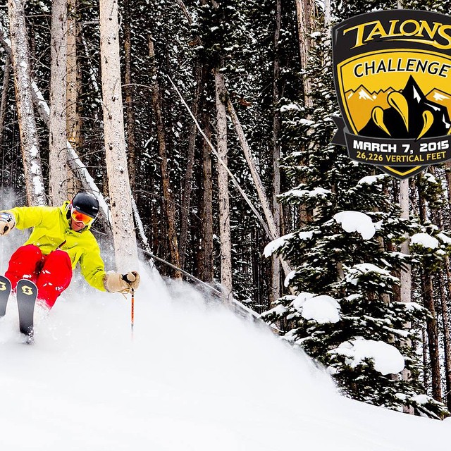 Talons Challenge tomorrow! See you there for all 26,000 vertical feet of black diamond glory.  Proceeds benefit SOS! @beavercreek