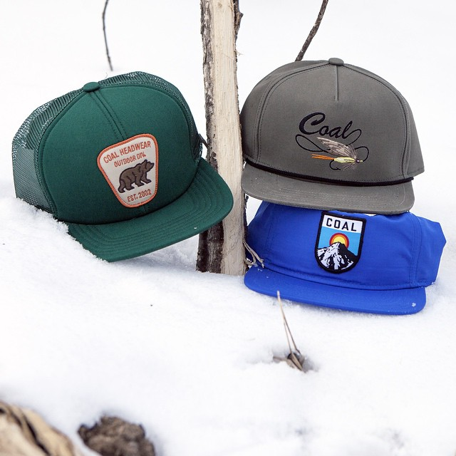 To everyone battling or bathing in the excess of snow, you can still wear ball caps. The Bureau, Summit, and Angler are all great.