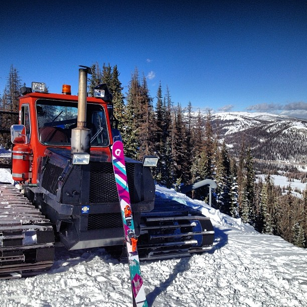 A little cat skiing at #wolfcreek today! Happy holidays!