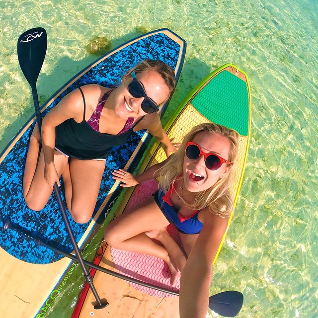 We're stoked to announce an all women's Instagram takeover this Sunday to celebrate International Women's Day! Use #GoProGirl so we can check out all your awesome photos and videos! Photo by @Nicollbee alongside @Kharasym. #GoPro #SUP #Water