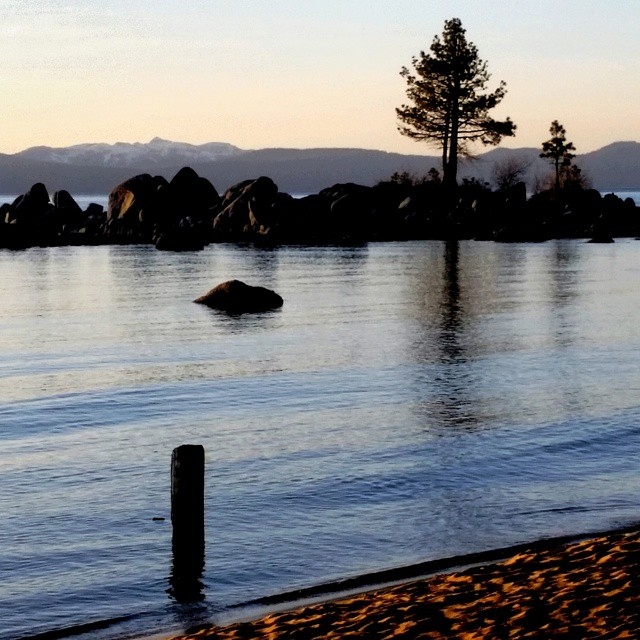 Calm evening on the south shores of #tahoe tonight. #peaceful #outdoors #weekends #laketahoe #graniterocx