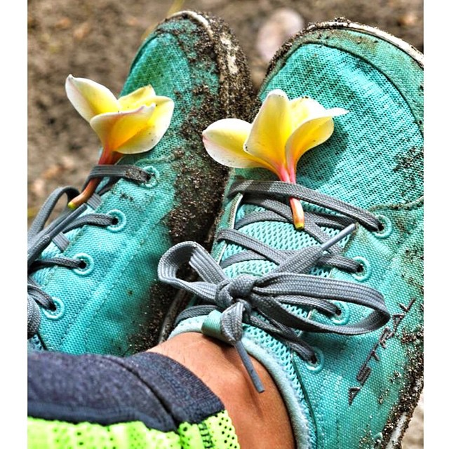 Taking a break to stop and smell the flowers #astralloyaks @astralfootwear ❤️