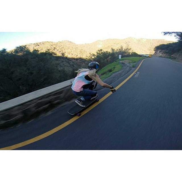 Go to www.longboardgirlscrew.com and check @pandaskate killer edit enjoying her California's favorite road. Rad!  #LongboardGirlsCrew #girlswhoshred #amandacaloia #amandapanda #california #usa