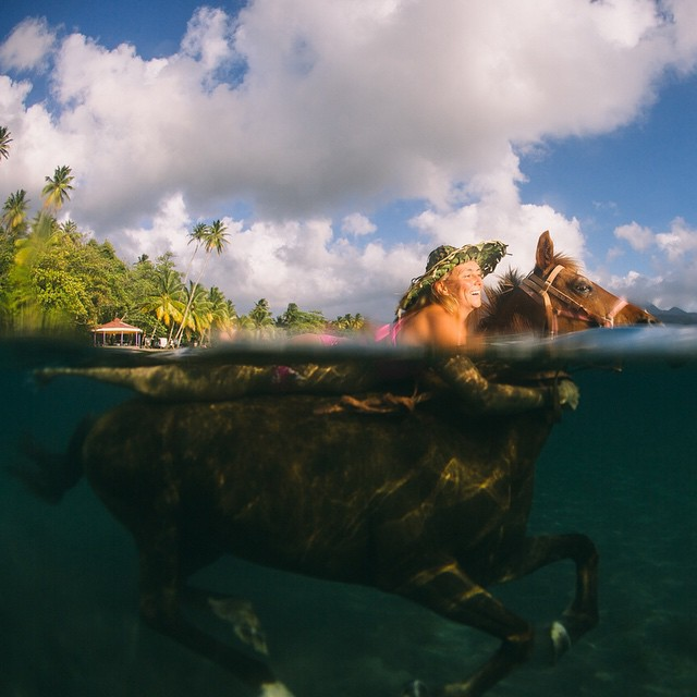 Horseback riding Caribbean style!