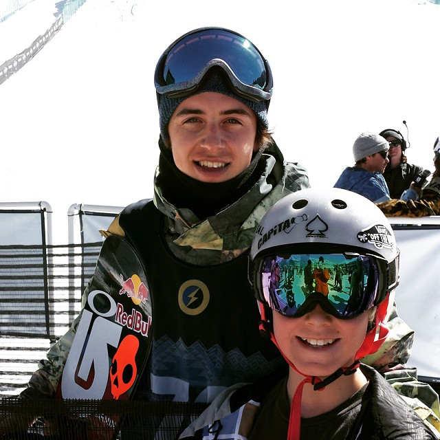 @markmcmorris congratulated Kaden 9n a triple cork backside turn after his run. Nice guy! #usopen #triplecork #dothedew
