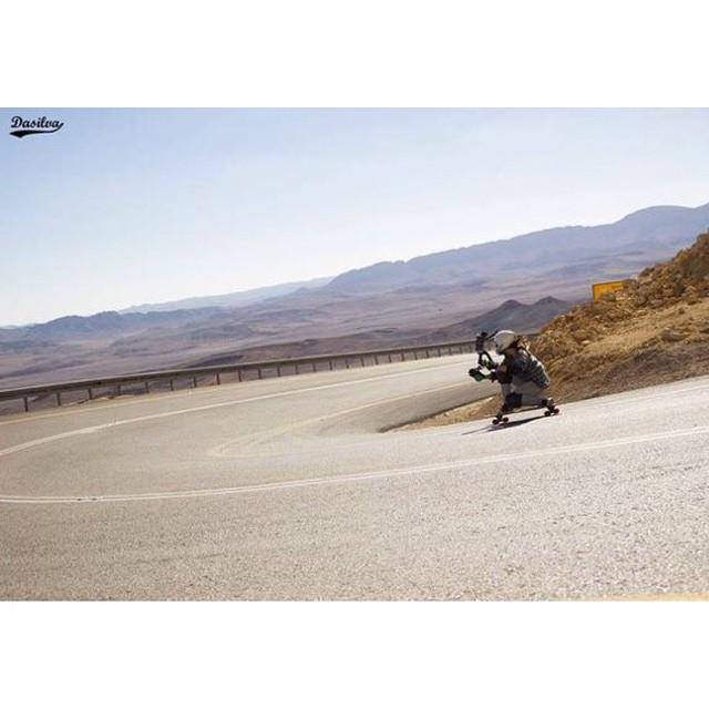 LGC Israel rider @katyakrasner shot by @dasilvaboards. Brothers & sisters!  #longboardgirlscrew #girlswhoshred #katyakrasner #israel #ramoncrater #dasilvaboards #wegetdirty