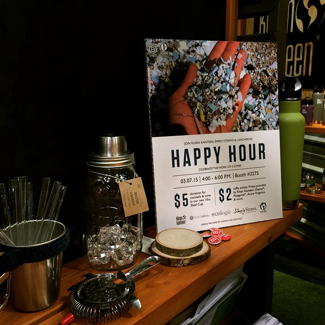Another Happy Hour at #ExpoWest w/ our friends at @kleankanteen @simplystraws at booth 3275 at 4pm. So many #BCorp happy hours today - choose your adventure! #BtheChange #BYOBundle