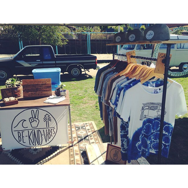 ••• Leucadia Farmers Market 10-2pm today ••• New on the racks, hand dyed indigo Adventure tees