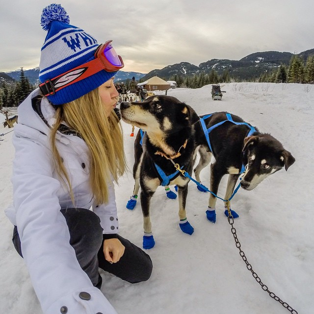 """Success is getting what you want; happiness is wanting what you get."" - Ingrid Bergman.  Photo by @theblondeabroad. #GoProGirl #GoPro #Dog"