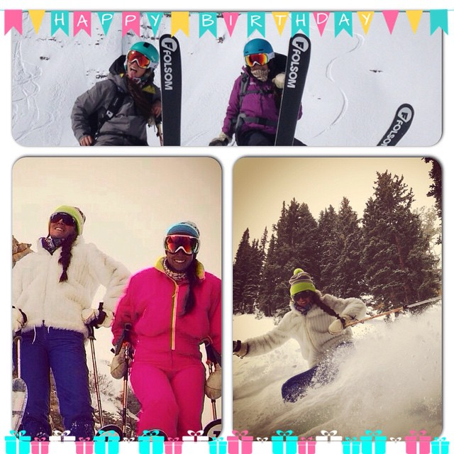 In honor of #internationalwomensday  @womensday here are two women @piliffq and @camilaffq who rip on skis and have been instrumental In our development of a woman's specific ski-- new for next year! #instacollage