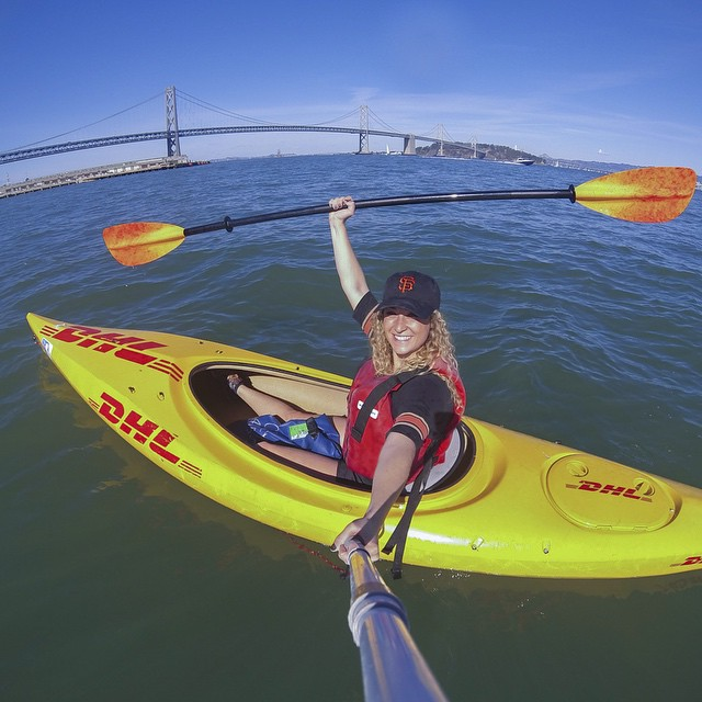 """The future belongs to those who believe in the beauty of their dreams."" - Eleanor Roosevelt  Photo by GoPro employee @sabrinagarretson. Learn more about the rad women of GoPro at gopro.com/news. #GoProGirl #GoPro #Kayak"