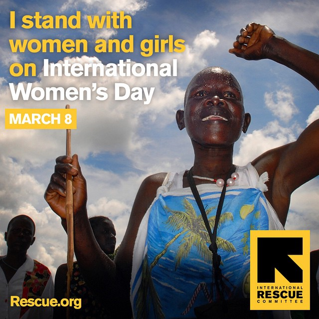 We stand with women & girls on #InternationalWomensDay and we support @theIRC's life-saving work!