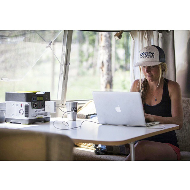 Airstream life with professional mountain biker @irmigrrr. #GetOutStayOut