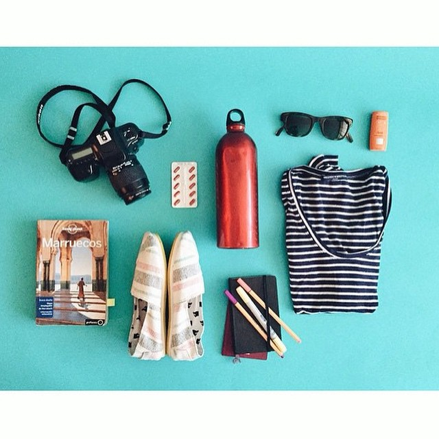 Smart packing @sur_mon_nuage  #Paez is ready for Morocco!  #paeztrip