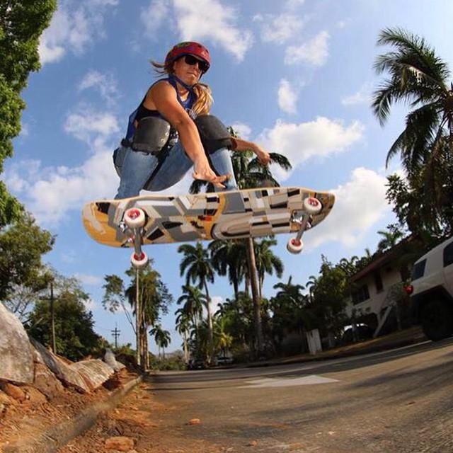 LGC Panama & OPEN rider @g_mdz shot by Joe Alvarez. Go Gina!  #LongboardGirlsCrew #girlswhoshred #Ginamendez #panama
