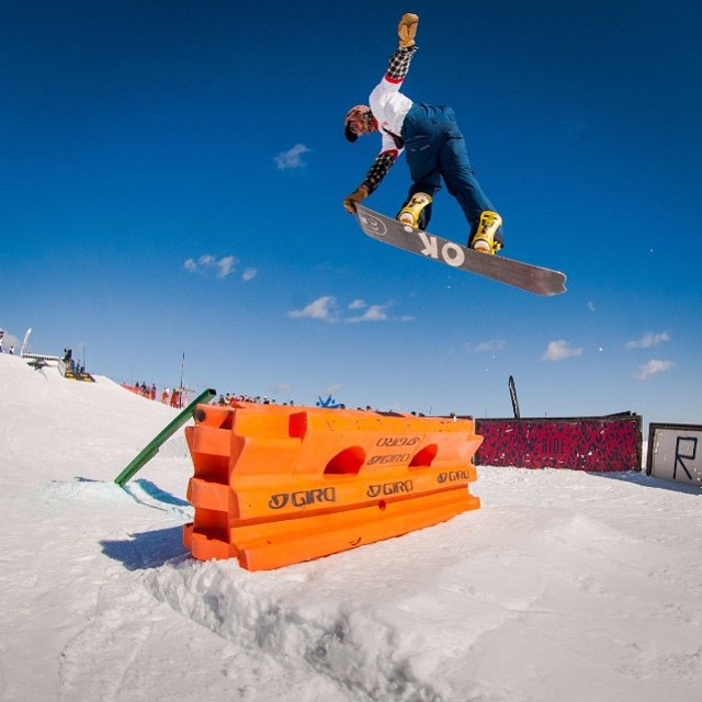Here's a regram from @twsnow . @rakejose421 won trans am #best trick and is killing it on his #Buck2.0 . #forridersbyriders #SchweitzerIdahoe #seatbelt @inicooperative @blackstrap_inc