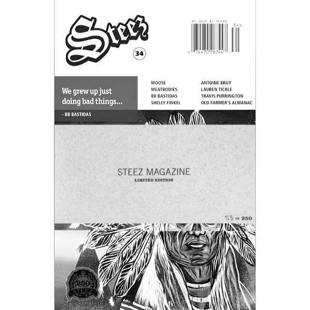 Just dropped our first ever Limited Edition artist series with @bb_bastidas for #issue34 #steezmagazine There's only 250 signed and numbered copies with other exclusive features available on our site now steezmagazine.com. Get em quick  #limitededition...