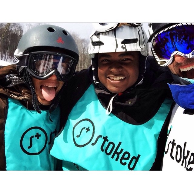Love to see our stokers smiling! Thanks @dmjury for this #stoked moment. #snow #stokedlife #friendship #snowmentor
