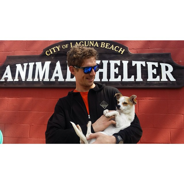"An hour ago we visited the #LBAS ""Laguna Beach Animal Shelter"" with our star @patrickswitzer to drop our donation check"