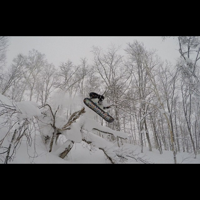 #JediMaster @nobull1 sending the #Jetson in the endless #Japanese #powder #Jetson #FutureFreeride