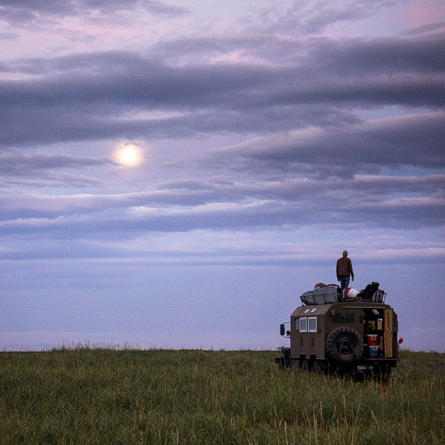 The search for adventure. It can take you anywhere. #GetOutStayOut  Photo: @chrisburkard in Russia searching for surf.