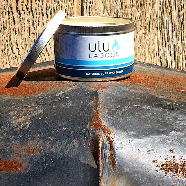 The 16oz surf wax scented Tin in natural wax. Heavy Metal. Available at www.uluLAGOON.com and better smelling surf shops nationwide. #uluLAGOON #heavymetal #surf #rustyhood #beach #soywax #surfwax #smellsrichter #inshredwetrust