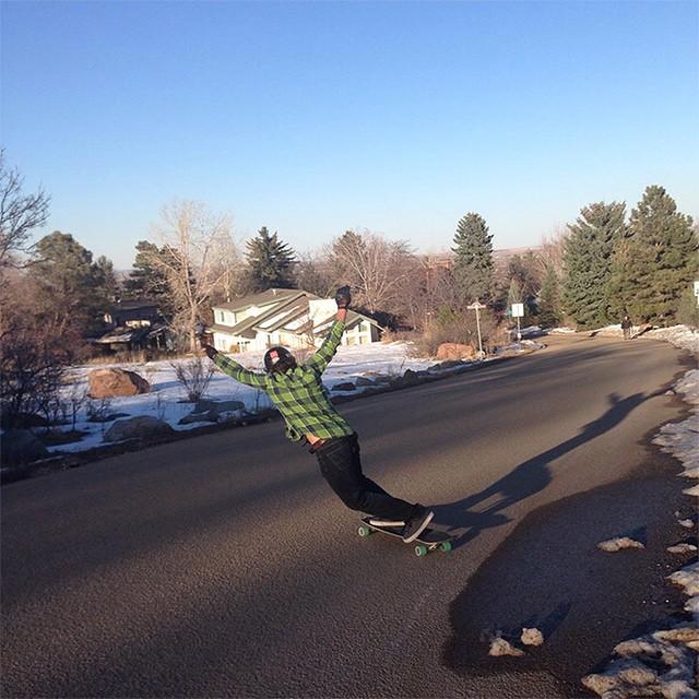 Team rider @garrett_creamer riding in Boulder, Colorado on his DB, @cloudridewheels @atlastruckco setup.
