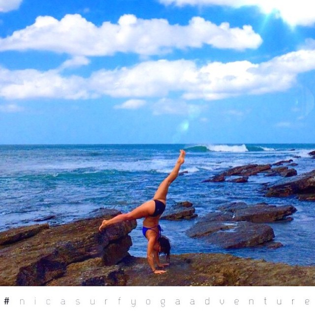 Beautiful shot of @lindsay_gonzalez_ from the surf/yoga retreat she is hosting in Nicaragua! Looks beautiful!