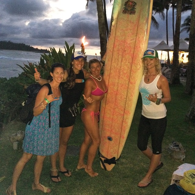 One of the best highlights of Hawaii? 'Twas all of us @localhoneydesigns girls meeting miss JamStar. She is one of the best female big wave longboards in the world. Ya, kinda a big deal!