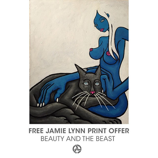 If you've ever wanted a print of Jamie Lynn's iconic painting 'Beauty & The Beast' now's the time to make it happen. In celebration of our new 'Wandering Eyes' collection, we're including this print FREE with any @asymbol order over $125. Link is in...