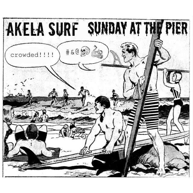 #AkelaSurf Sunday  at  the  Pier  #Surf  #fashion  #SurfSwimwear