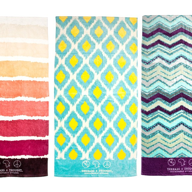 It's positively spring-like in #nyc today, almost beach towel weather. These cuties drop in May. #debut #beach #daydream #ikat #stripes #chevron #love