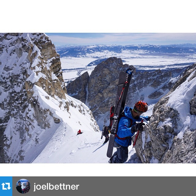 #Repost from @joelbettner who has been gettin' after it in a big way all winter. Yet another sweet picture! This time from #grandtetonnationalpark #gtnp #jackson #wyoming #skimountaineering