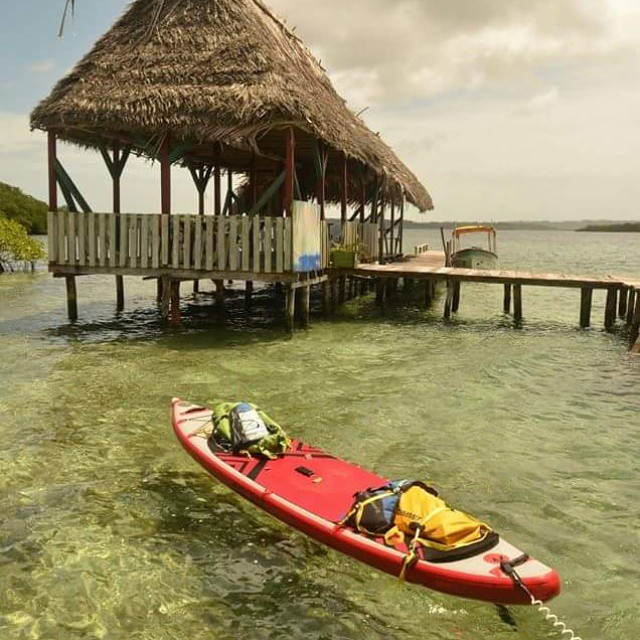 @suppaulclark and @kashapup are traveling from hut to hut exploring Panama via SUP. Check out their feed for more amazing photos. #halagear #halanass #adventuredesigned #supeverydamnday #standuppaddle #weliveadventure #sup #stand_up_paddle...